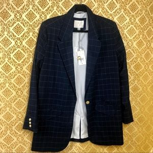 Plus size A New Day Blue Checkered blazer NWT